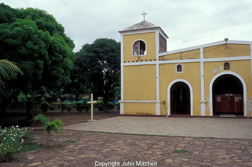 Church in the town of Altagracia on Isla de Ometepe, Nicaragua