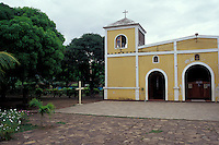 Church in the town of Altagracia on Isla de Ometepe, Nicaragua