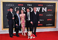 Matt Smith, Dame Eileen Atkins, Claire Foy, Peter Morgan, Stephen Daldry<br /> Premiere of The Crown, a new Netflix TV series about the reign of Queen Elizabeth II, at Odeon Leicester Square, London, England November 01, 2016.<br /> CAP/JOR<br /> &copy;JOR/Capital Pictures /MediaPunch ***NORTH AND SOUTH AMERICAS ONLY***