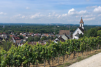Germany, Baden-Wuerttemberg, Markgraefler Land, wine village Istein, overview