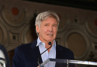 Harrison Ford at the Hollywood Walk of Fame Star Ceremony honoring actor Mark Hamill, Los Angeles, USA 08 March 2018<br /> Picture: Paul Smith/Featureflash/SilverHub 0208 004 5359 sales@silverhubmedia.com