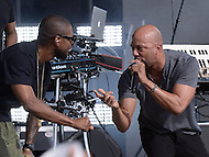 Washington, DC - April 18, 2015: Grammy Award winning singer/song writer Usher performs with hip-hop artist Common (r) at the annual Earth Day concert on the National Mall in the District of Columbia April 18, 2015. The concert, sponsored by Earth Day Network and The Global Poverty Project, promotes ending extreme poverty and solving climate change.  (Photo by Don Baxter/Media Images International)