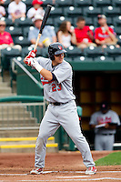Mike Trout (23) of the Arkansas Travelers at bat during a game against the Springfield Cardinals on May 10, 2011 at Hammons Field in Springfield, Missouri.  Photo By David Welker/Four Seam Images.