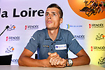 Arthur Vichot (FRA) Groupama-FDJ press conference before the 105th edition of the Tour de France 2018, held in Vend&eacute;space, La Roche-sur-Yon, France. 4th July 2018. <br /> Picture: ASO/Bruno Bade   Cyclefile<br /> All photos usage must carry mandatory copyright credit (&copy; Cyclefile   ASO/Bruno Bade)
