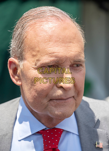 Director of the National Economic Council Larry Kudlow speaks to reporters on the North Driveway of the White House in Washington, DC on Wednesday, July 3, 2019.  Kudlow took questions on the trade deal with China.<br /> CAP/MPI/RS<br /> ©RS/MPI/Capital Pictures