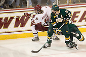 Chris Kreider (BC - 19), Jack Downing (Vermont - 21) - The Boston College Eagles defeated the visiting University of Vermont Catamounts 6-0 on Sunday, November 28, 2010, at Conte Forum in Chestnut Hill, Massachusetts.