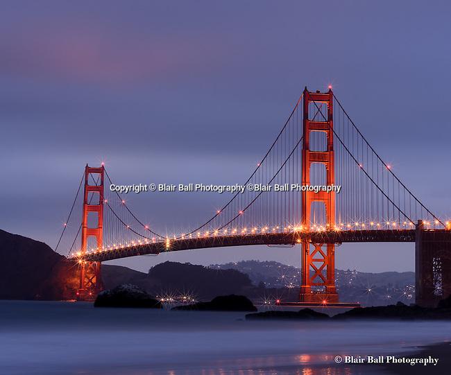 San Francisco California, and Golden Gate Bridge