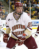 Patrick Brown (BC - 23) - The Boston College Eagles defeated the Boston University Terriers 3-2 (OT) in their Beanpot opener on Monday, February 7, 2011, at TD Garden in Boston, Massachusetts.