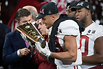 ATLANTA, GA - JANUARY 08: Minkah Fitzpatrick #29 of the Alabama Crimson Tide celebrates after defeating the Georgia Bulldogs during the College Football Playoff National Championship held at Mercedes-Benz Stadium on January 8, 2018 in Atlanta, Georgia. Alabama defeated Georgia 26-23 for the national title. (Photo by Jamie Schwaberow/Getty Images)