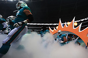 1st October 2017, Wembley Stadium, London, England; NFL International Series, Game Two; Miami Dolphins versus New Orleans Saints; The Miami Dolphins take the field