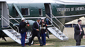 United States President Barack Obama arrives at Walter Reed National Military Medical Center in Bethesda, Maryland to visit with wounded warriors on March 2, 2010. .Credit: Dennis Brack / Pool via CNP