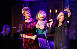 Gary Adler, Jennifer Barnhart and Erin Quill during the 'Avenue Q' 15th Anniversary Reunion Concert at Feinstein's/54 Below on July 30, 2018 in New York City.