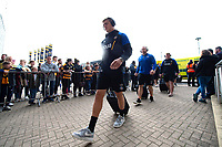Tom Ellis and the rest of the Bath Rugby team arrive for the match. Heineken Champions Cup match, between Wasps and Bath Rugby on October 20, 2018 at the Ricoh Arena in Coventry, England. Photo by: Patrick Khachfe / Onside Images