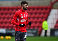Lincoln City's Ellis Chapman during the pre-match warm-up<br /> <br /> Photographer Andrew Vaughan/CameraSport<br /> <br /> The EFL Sky Bet League Two - Swindon Town v Lincoln City - Saturday 12th January 2019 - County Ground - Swindon<br /> <br /> World Copyright &copy; 2019 CameraSport. All rights reserved. 43 Linden Ave. Countesthorpe. Leicester. England. LE8 5PG - Tel: +44 (0) 116 277 4147 - admin@camerasport.com - www.camerasport.com