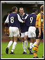 24/8/02         Copyright Pic : James Stewart                     .File Name : stewart-alloa v falkirk 26.ANDY LAWRIE IS CONGRATULATED BY LEE MILLER (8) AND OWEN COYLE (9) AFTER SCORING THE SECOND GOAL.....James Stewart Photo Agency, 19 Carronlea Drive, Falkirk. FK2 8DN      Vat Reg No. 607 6932 25.Office : +44 (0)1324 570906     .Mobile : + 44 (0)7721 416997.Fax     :  +44 (0)1324 570906.E-mail : jim@jspa.co.uk.If you require further information then contact Jim Stewart on any of the numbers above.........