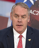 United States Secretary of the Interior Ryan Zinke speaks at the Conservative Political Action Conference (CPAC) at the Gaylord National Resort and Convention Center in National Harbor, Maryland on Friday, February 23, 2018.<br /> Credit: Ron Sachs / CNP