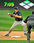 12 April 2008: Atlanta Braves' second baseman Kelly Johnson in action against the Washington Nationals at Nationals Park, in Washington, DC. The Braves defeated the Nationals 10-2...Mandatory Photo Credit: Ed Wolfstein Photo