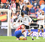 Valencia CF's   Danilo Barbosa and Sporting de Gijon's   during La Liga match. January 31, 2016. (ALTERPHOTOS/Javier Comos)