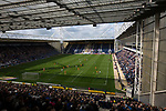 The home team on the attack at the start of the second-half viewed from the Alan Kelly Stand as Preston North End take on Reading in an EFL Championship match at Deepdale. The home team won the match 1-0, Jordan Hughill scoring the only goal after 22nd minutes, watched by a crowd of 11,174.