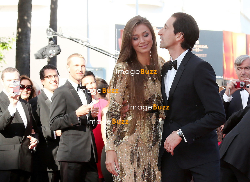 """Lara Nieto and Adrien Brody attend the """" Cleopatra """" premiere during The 66th Annual Cannes Film Festival at The 60th Anniversary Theatre on May 21, 2013 in Cannes, France."""