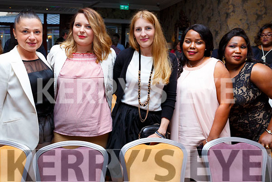 The graduates from the Manicure and Pedicure course at the ETB Graduation ceremony in the Rose Hotel on Thursday evening.<br /> L-r, Edyda Szczeblsai, Anna Gasienica, Agnieszka Bzymek, Sadia Hammed and Ajarat Anekenek.