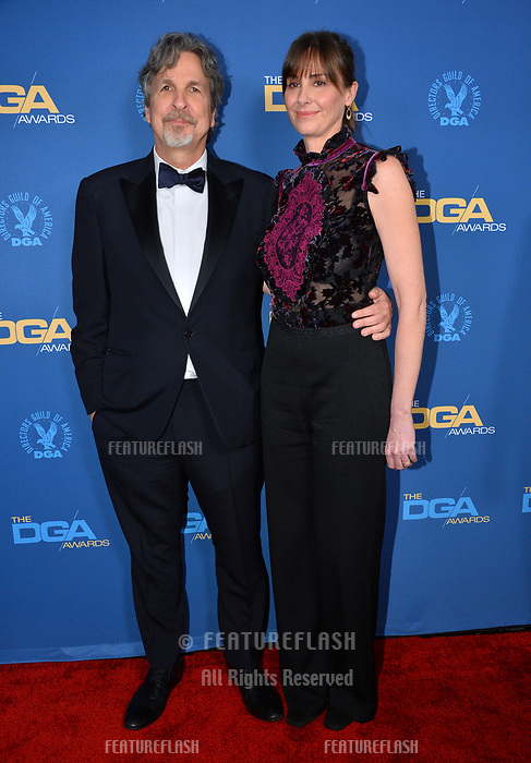 LOS ANGELES, CA. February 02, 2019: Peter Farrelly & Melinda Kocsis at the 71st Annual Directors Guild of America Awards at the Ray Dolby Ballroom.<br /> Picture: Paul Smith/Featureflash