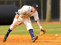 Florida International University Golden Panthers versus the .Missouri Tigers at University Park Stadium, Miami, Florida on Sunday, February 11, 2007.  The Tigers defeated the Golden Panthers, 3-2...Senior third baseman Bryan Pullin (6)