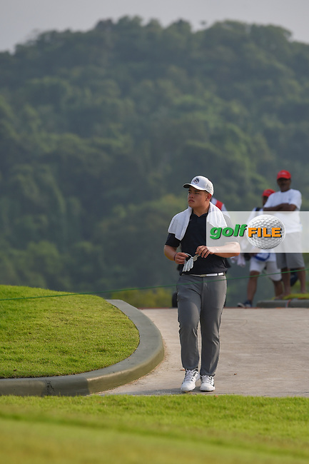 Brentt SALAS (GUM) makes his way to 12 during Rd 2 of the Asia-Pacific Amateur Championship, Sentosa Golf Club, Singapore. 10/5/2018.<br /> Picture: Golffile | Ken Murray<br /> <br /> <br /> All photo usage must carry mandatory copyright credit (© Golffile | Ken Murray)