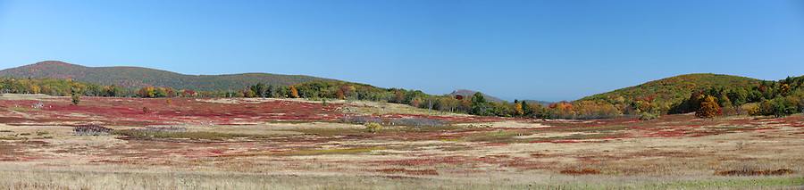 Colorful landscapes cover Big Meadow in the Shenandoah Parkway. Photo/ Andrew Shurtleff