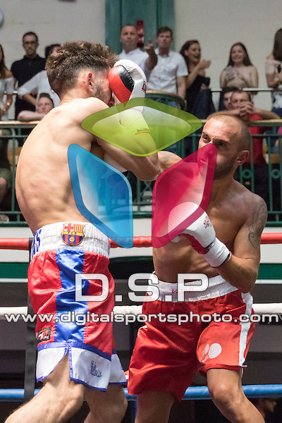 Sam Stokes vs Daniel Borisov Middleweight Contest During Goodwin Boxing: Summer Fight Festival. Photo by: Simon Downing.<br /> <br /> Saturday 16th July 2016 - York Hall, Bethnal Green, London, United Kingdom.
