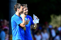 Lincoln City manager Danny Cowley, left, and Lincoln City's assistant manager Nicky Cowley<br /> <br /> Photographer Chris Vaughan/CameraSport<br /> <br /> Football - Pre-Season Friendly - Lincoln United v Lincoln City - Saturday 8th July 2017 - Sun Hat Villas Stadium - Lincoln<br /> <br /> World Copyright &copy; 2017 CameraSport. All rights reserved. 43 Linden Ave. Countesthorpe. Leicester. England. LE8 5PG - Tel: +44 (0) 116 277 4147 - admin@camerasport.com - www.camerasport.com