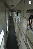 Narrow hallway in sleeper car on board (Licence this image exclusively with Getty: http://www.gettyimages.com/detail/83154184 )