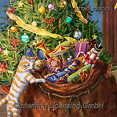 Marcello, REALISTIC ANIMALS, REALISTISCHE TIERE, ANIMALES REALISTICOS,cat,christmas tree,presents,nutcracker paintings+++++,ITMCTNBC03,#xa#,Christmas