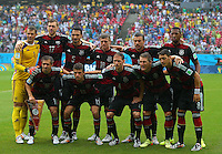 Germany team group line up before kick off