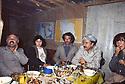 Iran 1981  At the headquarters of KDPI, left, Said Sharafkandi, second from right, Abdul Rahman Ghassemlou and Dr. Florence Veber of AMI<br /> Iran 1981  Au QG du PDKI, de gauche a droite, Said Sharafkandi, 4eme, Abdul Rahman Ghassemlou et Dr. Florence Veber de l'AMI<br /> ئیران 1981, بنکه ی ده فته ری سیاسی حیزبی دیموکراتی کوردستانی ئیران, له لای چه په وه :  دوکتور شه ره فکه ندی, چواره مین که س دوکتور عبدالرحمان قاسملوو و پینجه مین که س فلورانس ویبر.