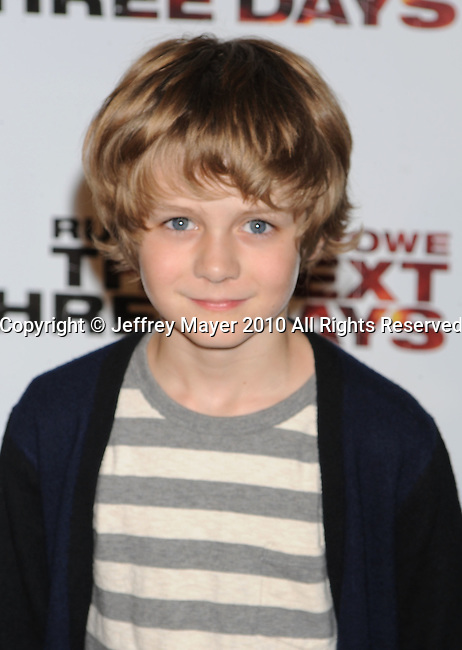 """WEST HOLLYWOOD, CA. - November 16: Ty Simpkins arrives at the special screening of """"The Next Three Days""""  at the Director's Guild of America on November 16, 2010 in West Hollywood, California."""