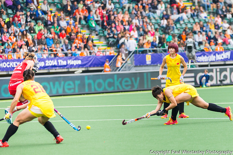 England Women vs China Women in the Rabobank Hockey World Cup 2014