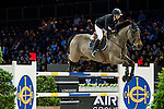 Jane Richard Philips on Dieudonne de Guldenboom competes during competition Table A Against the Clock at the Longines Masters of Hong Kong on 19 February 2016 at the Asia World Expo in Hong Kong, China. Photo by Li Man Yuen / Power Sport Images