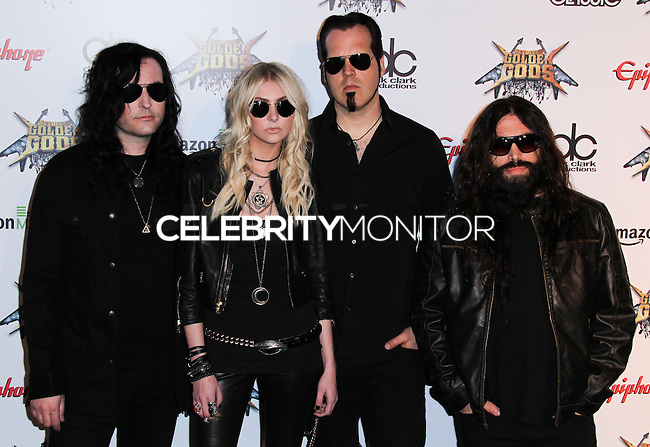 LOS ANGELES, CA, USA - APRIL 23: The Pretty Reckless, Taylor Momsen at the 2014 Revolver Golden Gods Award Show held at Club Nokia on April 23, 2014 in Los Angeles, California, United States. (Photo by Xavier Collin/Celebrity Monitor)