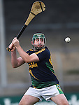 Alan Mc Mahon of Broadford takes a puc out against St Joseph's Doora Barefield during their Intermediate county final in Cusack Park. Photograph by John Kelly.