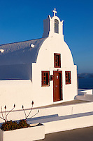 Oia, ( Ia )  Santorini - Byzantine Orthodax churches, - Greek Cyclades islands - Photos, pictures and images