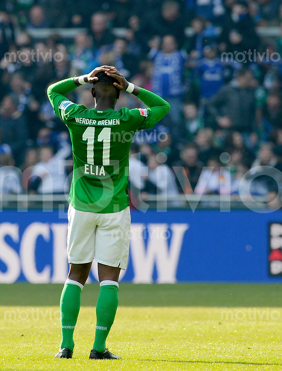 FUSSBALL   1. BUNDESLIGA   SAISON 2012/2013    28. SPIELTAG SV Werder Bremen - FC Schalke 04                          06.04.2013 Eljero Elia (SV Werder Bremen) ist enttaeuscht
