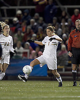 "Boston College forward Victoria DiMartino (1) traps the ball. Boston College defeated West Virginia, 4-0, in NCAA tournament ""Sweet 16"" match at Newton Soccer Field, Newton, MA."