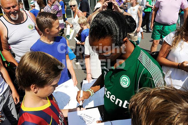 GRONINGEN - Voetbal, Open dag FC Groningen, Euroborg, seizoen 2014-2015, 02-08-2014,  FC Groningen speler Jarchinio Antonia