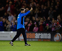 Lincoln City's assistant manager Nicky Cowley salutes the fans at the end of the game<br /> <br /> Photographer Chris Vaughan/CameraSport<br /> <br /> Vanarama National League - Lincoln City v Chester - Tuesday 11th April 2017 - Sincil Bank - Lincoln<br /> <br /> World Copyright &copy; 2017 CameraSport. All rights reserved. 43 Linden Ave. Countesthorpe. Leicester. England. LE8 5PG - Tel: +44 (0) 116 277 4147 - admin@camerasport.com - www.camerasport.com