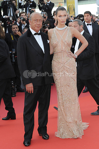 Fawaz Gruosi and Model Bella Hadid  at &quot;Cafe Society&quot; &amp; Opening Gala arrivals - The 69th Annual Cannes Film Festival, France on May 11, 2016.<br /> CAP/LAF<br /> &copy;Lafitte/Capital Pictures /MediaPunch ***NORTH AND SOUTH AMERICAN SALES ONLY***