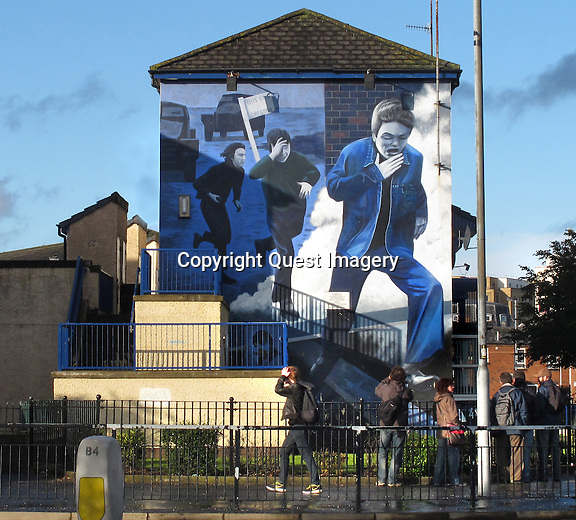&quot;The Runner&quot;  a mural dedicated to the memory and heroism of Patrick Walsh.<br />