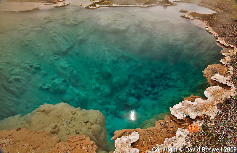 An unnamed hot spring near Great Fountain Geyser, in the Lower Geyser Basin, Yellowstone National Park.