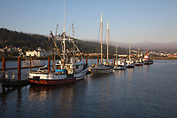 Commercial Fishing Boats, Port of Astoria, Oregon, OR, America, USA.