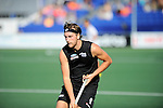 The Hague, Netherlands, June 01: Blair Hilton #9 of New Zealand in action during the field hockey group match (Men - Group B) between the Black Sticks of New Zealand and Korea on June 1, 2014 during the World Cup 2014 at GreenFields Stadium in The Hague, Netherlands. Final score 2:1 (1:0) (Photo by Dirk Markgraf / www.265-images.com) *** Local caption ***